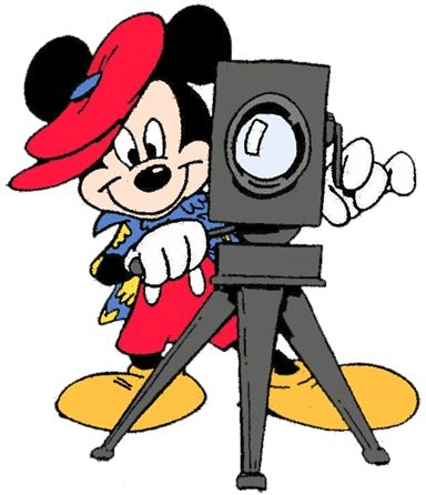 mickey mouse with camera