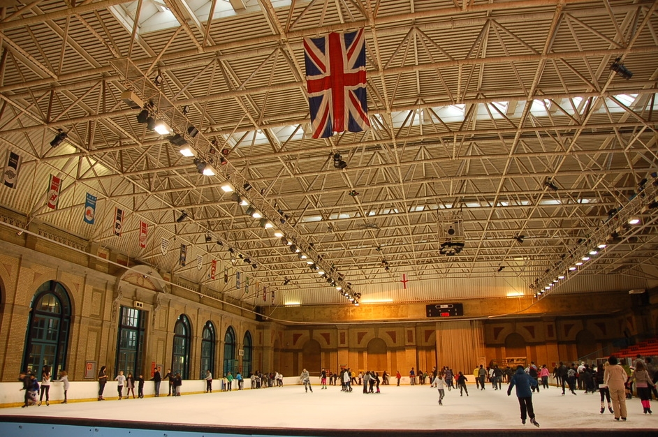 Ice skating at Alexandra Palace