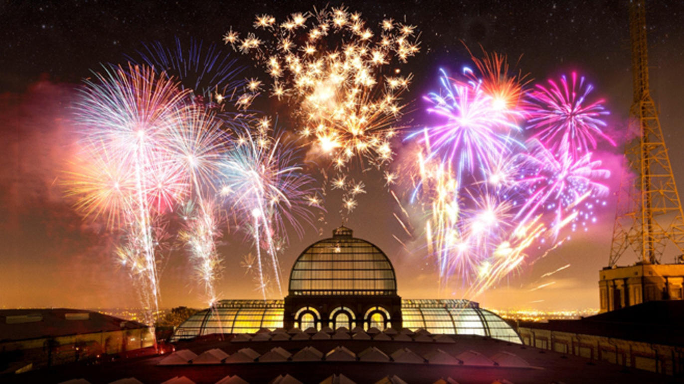 Fireworks at Alexandra Palace